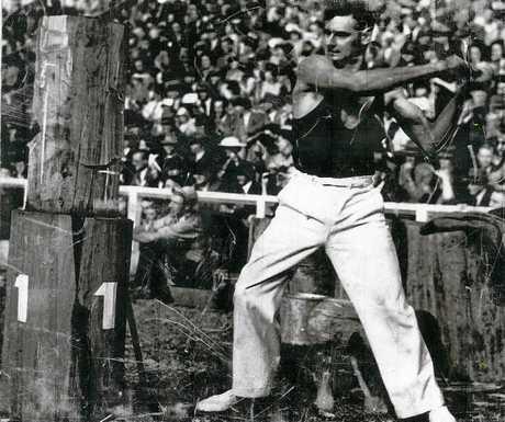 Gympie wood chop legend Vic Summers