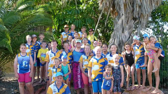 GOOD SWIM: Swimmers from Biloela Bluefins who competed at the Biloela Open. The club was thrilled with the turnout for the 33rd meet.
