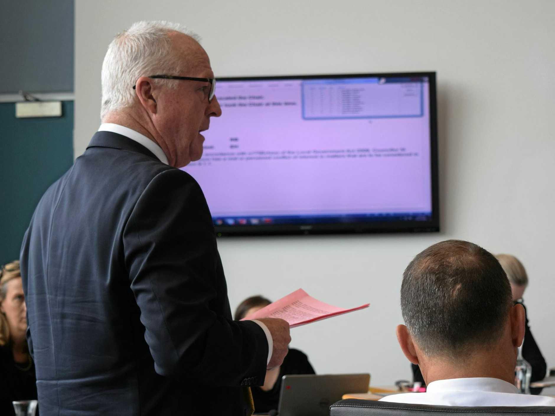 Cr Mark Jamieson speaks during a Sunshine Coast Council meeting.