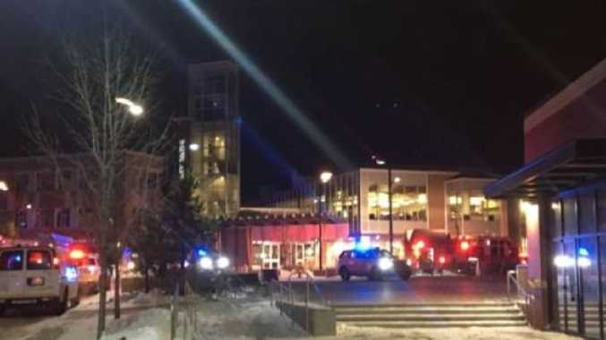 The scene of the failed car bombing in Sherwood Park, Canada.Picture: Twitter
