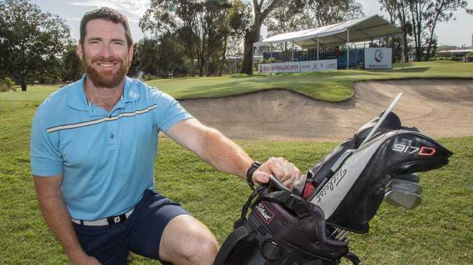 AFL great Jason Akermanis is turning his sporting skills to golf. Picture: David Kapernick, Golf Queensland