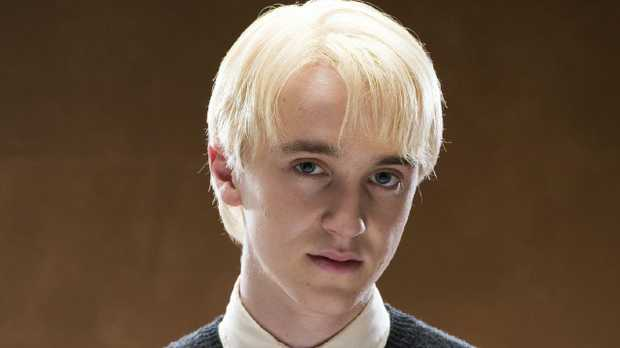 Tom Felton as Draco Malfoy in the Harry Potter films