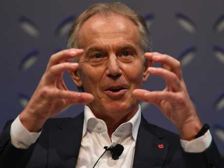 Tony Blair speaking in Lisbon. Picture: Harry Murphy/Web Summit via Getty Images
