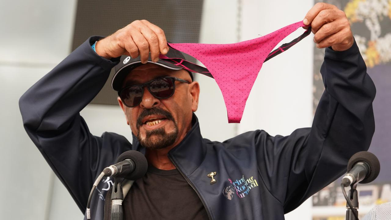 Marwan Koukash grabbed attention with his plan to strip down to a G-string if his horse Magic Circle won the Melbourne Cup. Picture: AAP