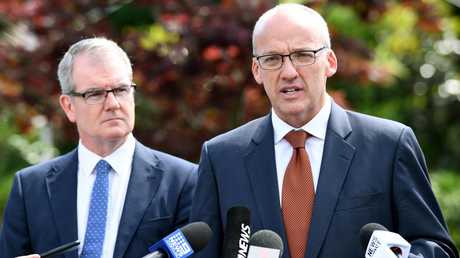 Deputy NSW Opposition leader Michael Daley is firming as Luke Foley's replacement should he fall on his sword as expected. Picture: AAP