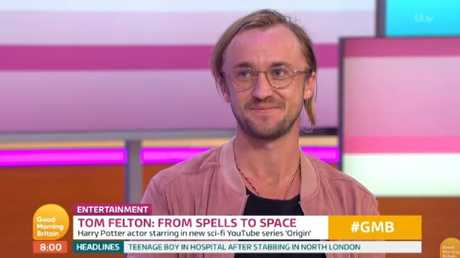 Tom Felton looked very different from his Harry Potter days