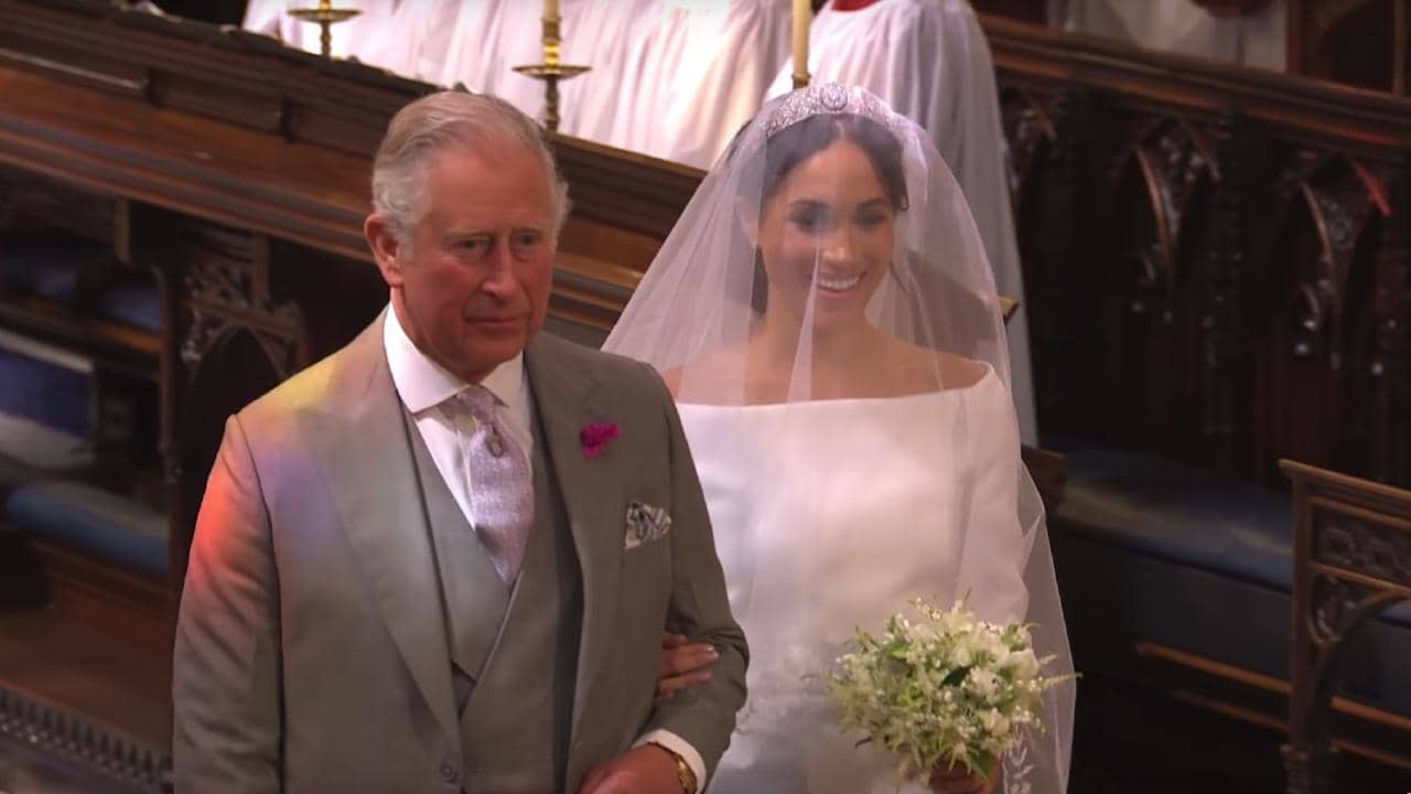 Harry has detailed the conversation he had with his dad before the wedding. Picture: BBC