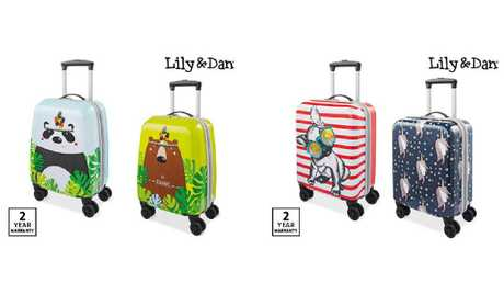 Aldi Lily & Dan kids' suitcases are on sale for $29.99.