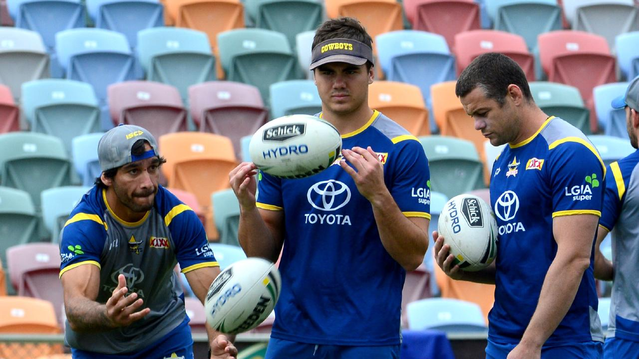 Thurston will take up a mentoring role in 2019 with the Cowboys playmakers. Picture: Evan Morgan