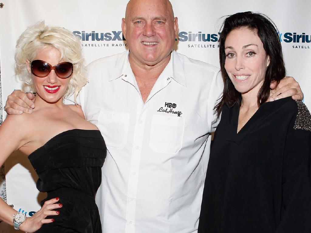 Dennis Hof with Cami Parker (left) and Heidi Fleiss. Picture: Cindy Ord/Getty ImagesS