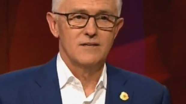 Malcolm Turnbull on Q&A. Pic: ABC