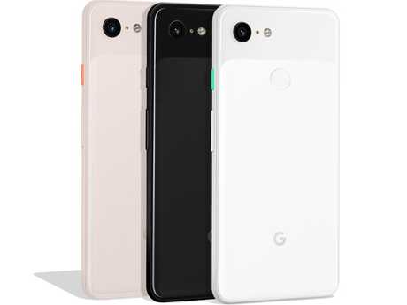 The Pixel3 comes in three colours: White, black and a soft pink