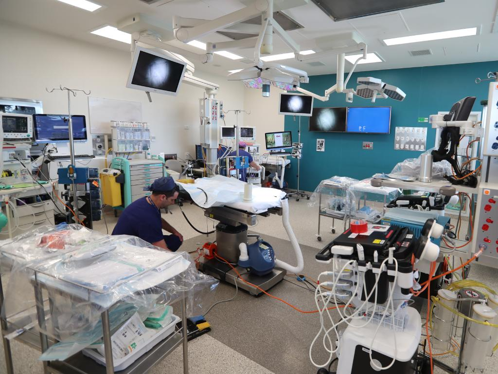Inside the operating theatre. Picture: Alex Coppel
