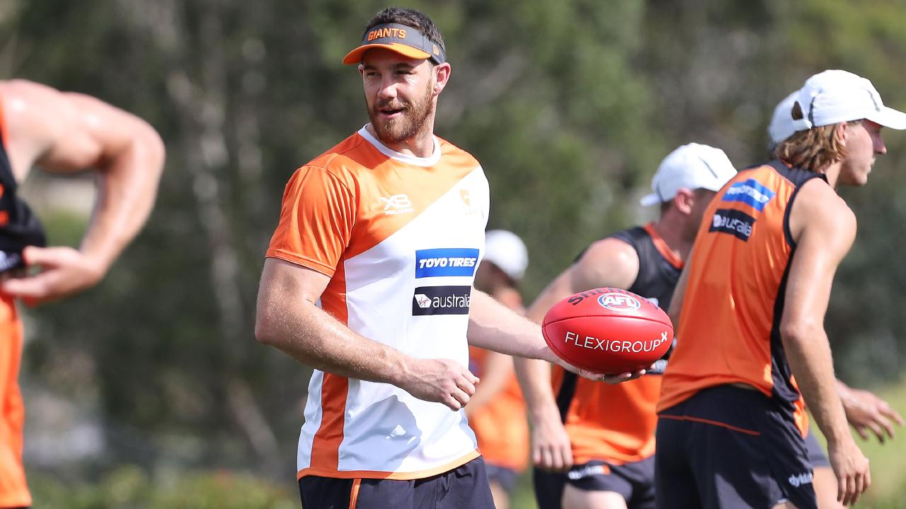 Shane Mumford has been working as an assistant coach at GWS. Picture: David Swift