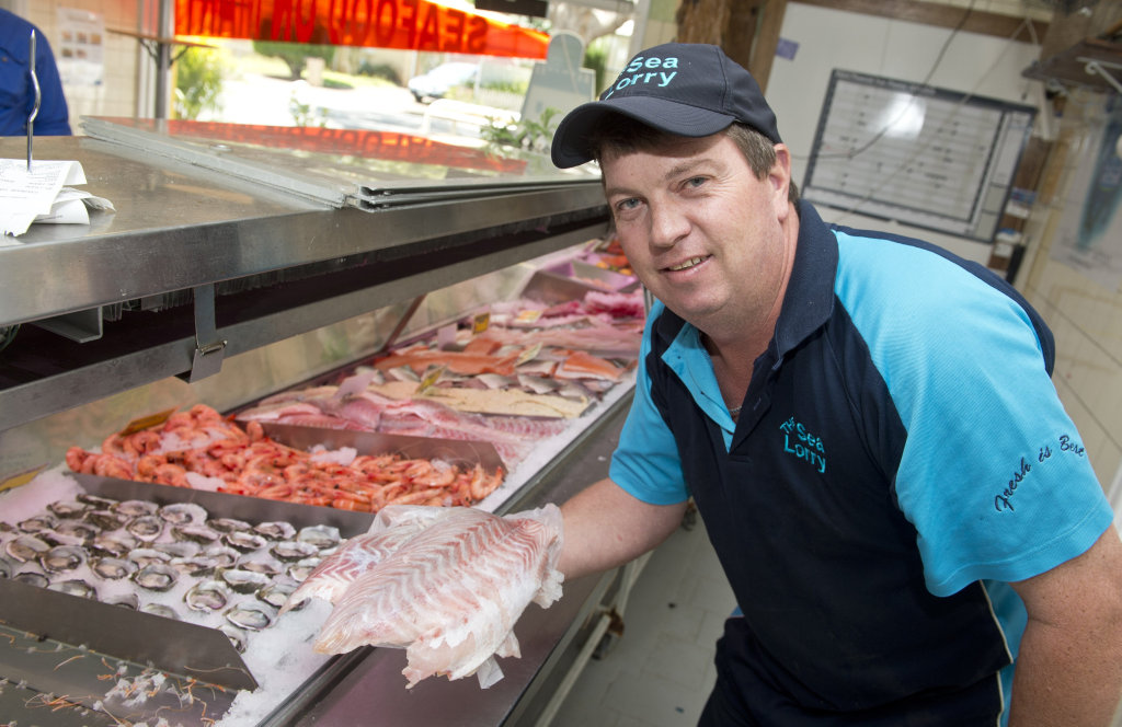 SEAFOOD SHORTAGE: Seafood on Mary owner Mal Hunkin says this year's Easter rush has been the busiest he's seen . Saturday 26 Mar , 2016.