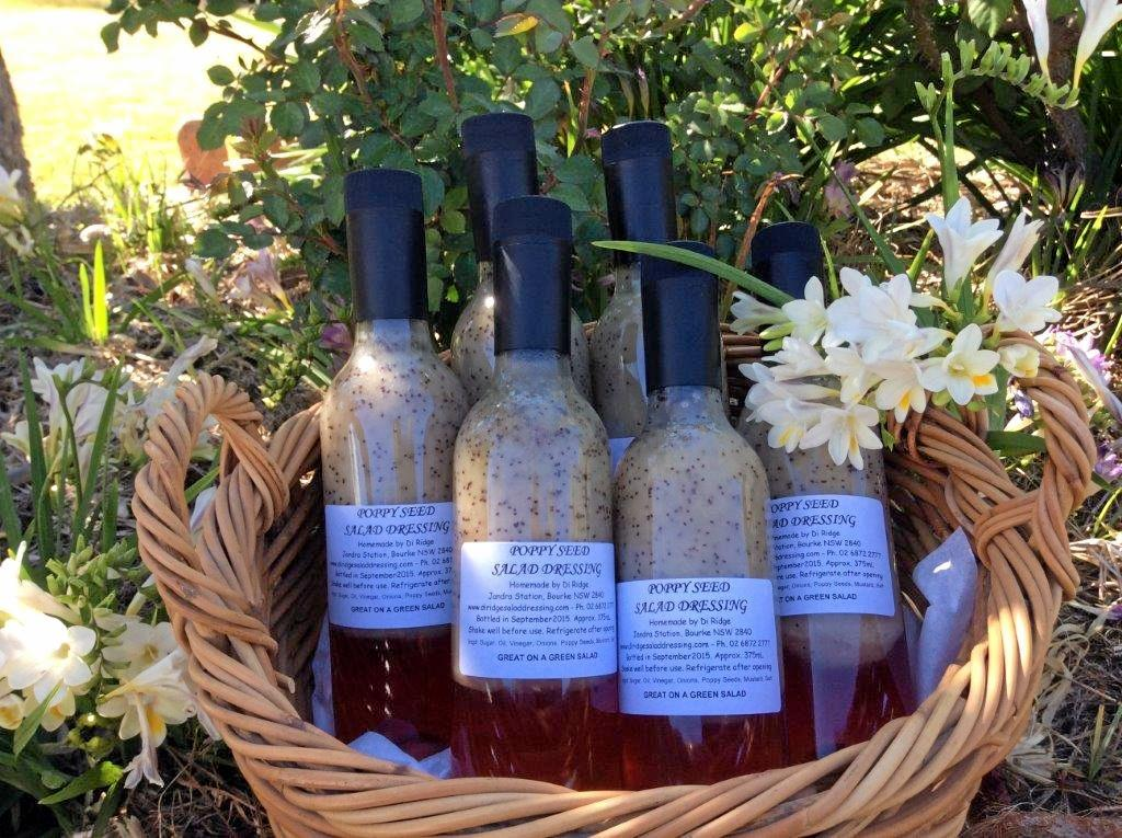 Examples are Alan Edmonstone's garden art and sheep farmer Di Ridge's Poppy Seed Salad Dressing.