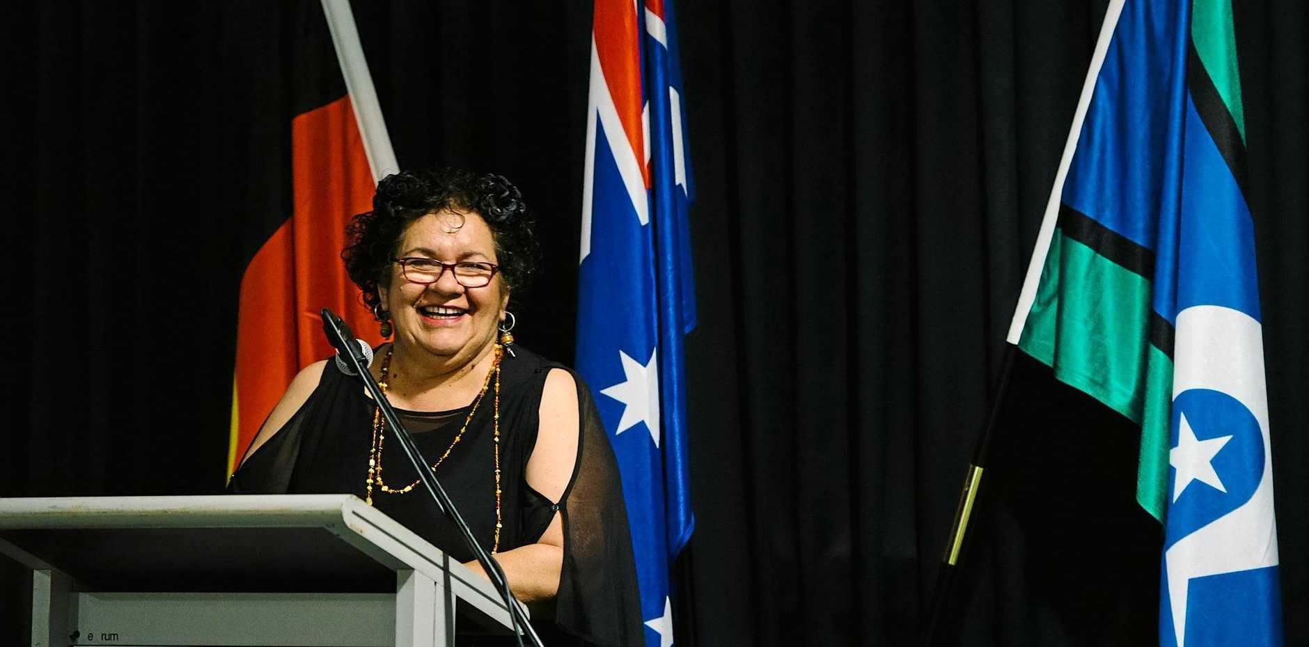 MAKING A CHANGE: Professor Tracey Bunda, head of USQ's College for Indigenous Studies, Education and Research, speaks at the inaugural NAIDOC Ball.