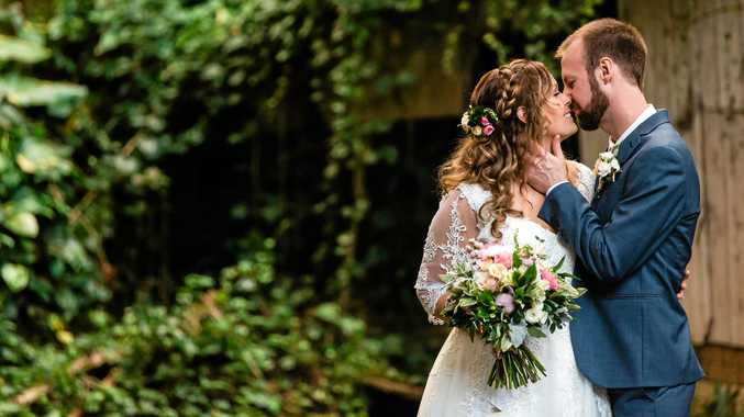 CONGRATS: Kathryn Hoens and Karl Doss have wed at Beerwah.