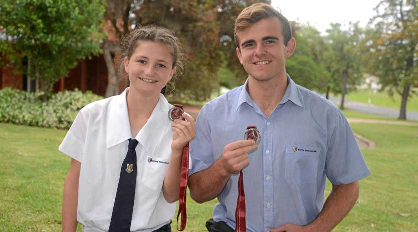 Scots PGC College students Lucy Bourke and Will Gilmore each won silver medals in state athletics.