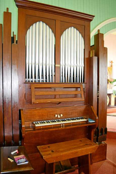 The pipe organ at Zion Lutheran Church, Minden.