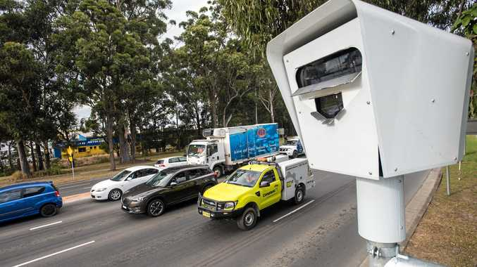 Red light camera at Bray street intersection.
