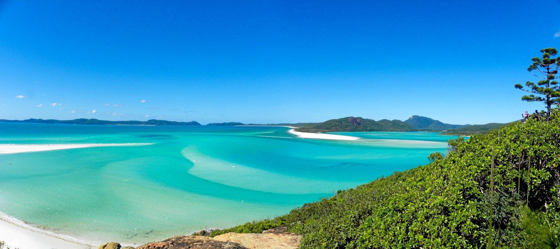 DEVELOPMENT TARGET: Hill Inlet looking south along the iconic Whitehaven Beach, on Whitsunday Island. The island has been earmarked for possible development.