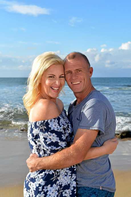 Sunshine Coast radio personality Jess Eva and her fiance Norm Hogan.