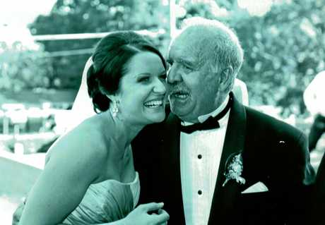 Gary Sawyer with daughter Brooke on her wedding day in 2007.