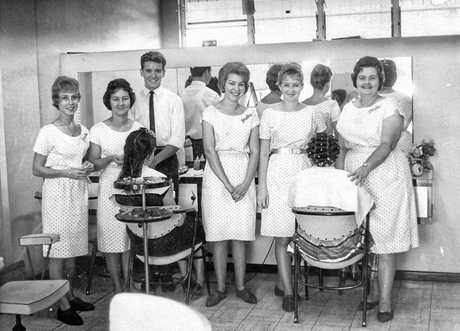 Gary Sawyer and team in his early salon days.