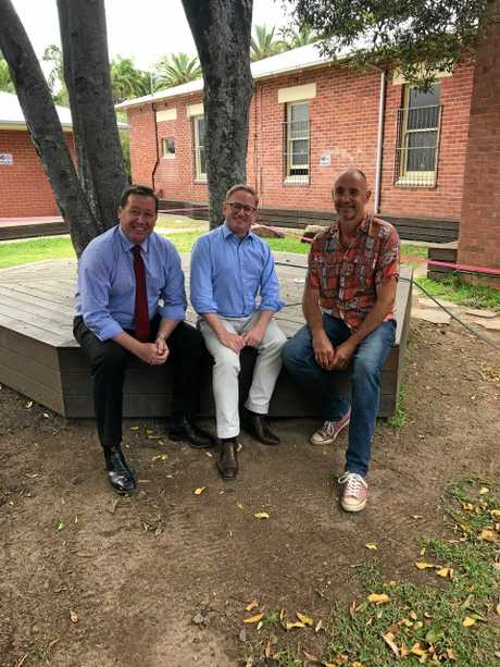 STEER: Minister for Police, Troy Grant and Nationals Parliamentary Secretary for Northern NSW, Ben Franklin with STEER Project Coordinator Phil Preston.