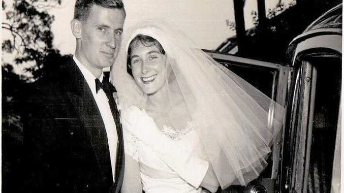 Dr William Bolton and his wife Cecilie on their wedding day in 1959.