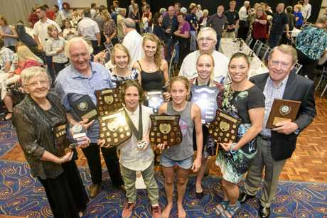 Winners from the 2017 Clarence Valley Sports Awards.