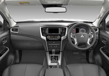 Inside the 2019 Mitsubishi Triton.