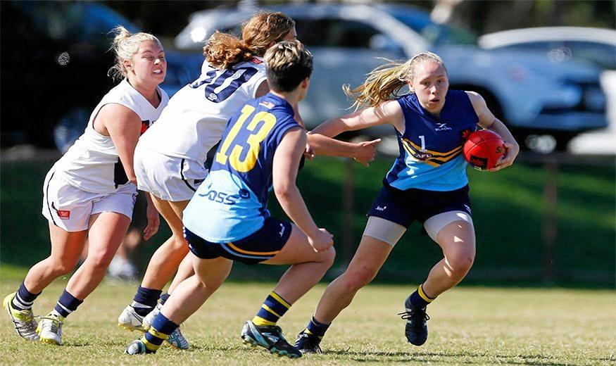 Lawrence teenager Georgia Breward is one of three Clarence Valley AFL stars to earn selection for the NSW/ACT Youth Girls squad.