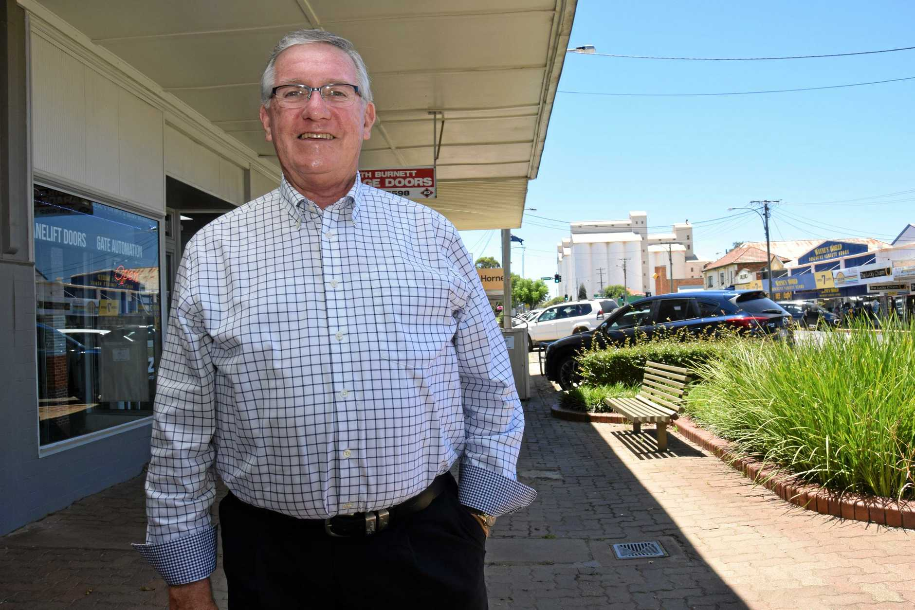 PROJECT: South Burnett Mayor Keith Campbell says work will be done on Haly St, Kingaroy St and Alford St.