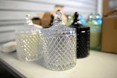 GLAMOUROUS STYLE: A new luxe line of the candle containers being released just in time for Christmas.