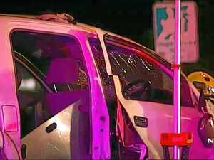 Group flees wreckage as mate lies dying from a gunshot wound