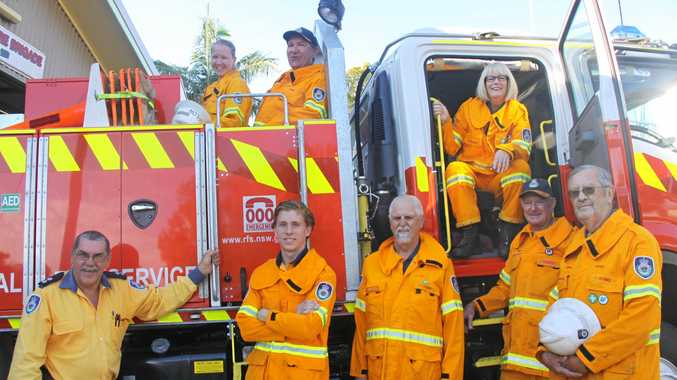 HAPPY 50TH: The Clunes Fire Brigade will open its doors on Sunday November 11 to cleebrate its 50th Birthday. Brigade captain Neville Battistuzzi (second on left in back of truck) said the while community is welcome to attend the party.