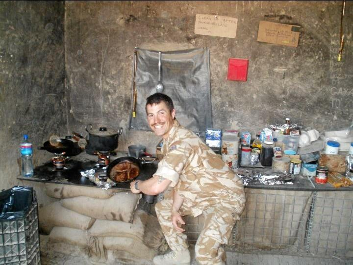 Nathan Beesley flashes a smile while serving in Afghanistan for the British Royal Marines.