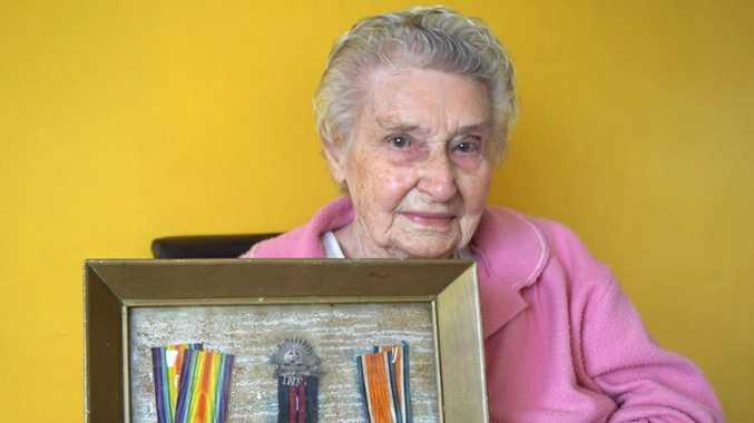 TREASURES: Dorothy Allen keeps her father's World War I medals safe at her home.