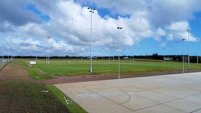 ALMOST READY: Netball and football courts at the Fraser Coast Sports Precinct are expected to be ready by February.