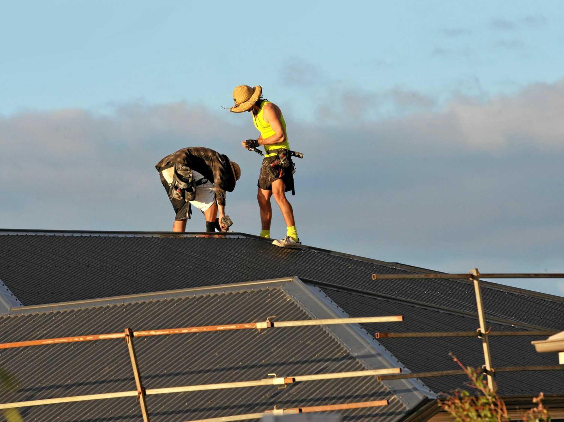 Builders at work.