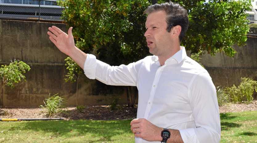 Senator Matthew Canavan in Rockhampton on Friday