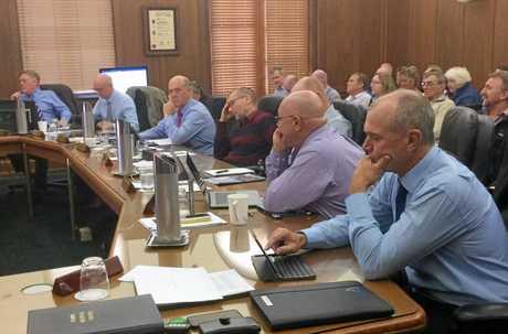 GYMPIE REGIONAL COUNCIL: Mark McDonald, Bob Fredman, Hilary Smerdon, Mal Gear, Dan Stewart, Glen Hartwig, Daryl Dodt and Deputy Mayor Bob Leitch