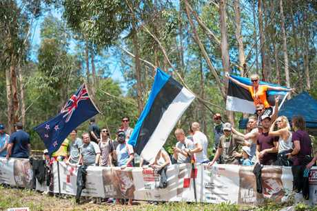 Fans from all over the world on the stages of Kennards Hire Rally Australia on the Coffs Coast last year.