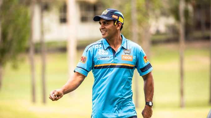 Tyrone Peachey at the Titans' golf day. Picture: Gold Coast Titans