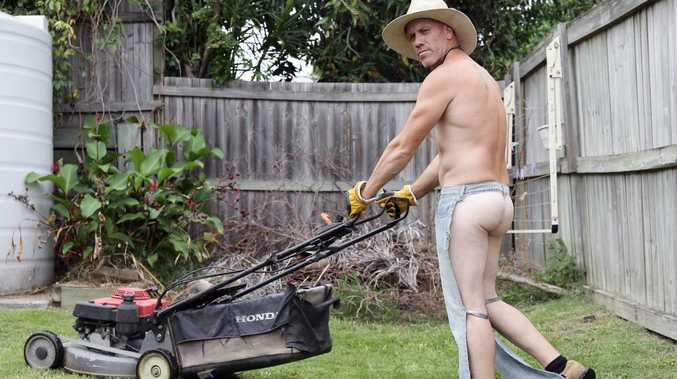 Leeroy Evans is a landscaper offering naked gardening services. Bare All Cleaners is now expanding into gardening with a number of gardeners happy to mow and prune in the nude.