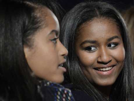 Malia and Sasha Obama have grown up in the public eye. Picture: Getty Images