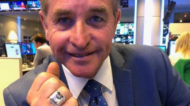 Bradley Charles Stubbs shows off his NRL premiership ring.