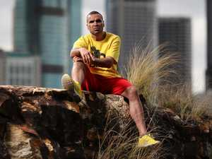 Trash talk: Mundine does interview in a bin